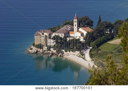 The Dominican Monastery in Bol on the south side of Brac Island Croatia