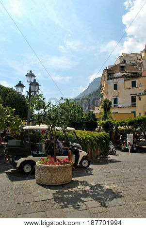 Amazing italian Amalfi coastline at summer time.
