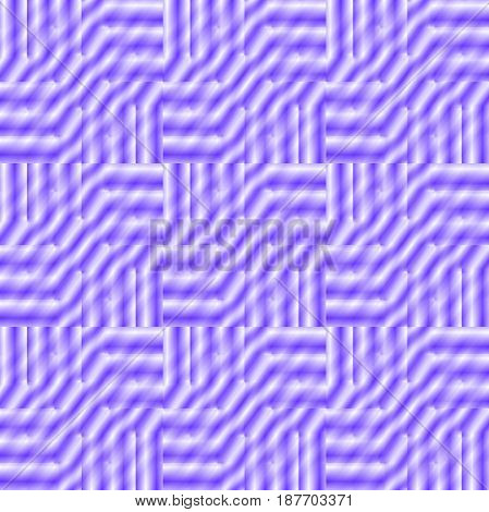 Abstract geometric seamless background single color. Regular stripes pattern in purple shades in squares shifted and blurred.