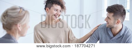 Smiling Couple During Marital Therapy