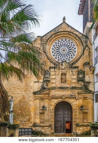 Facade of San Pablo church in Cordoba Spain