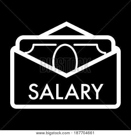 Salary vector icon. Black and white cash illustration. Contour linear money icon. eps 10