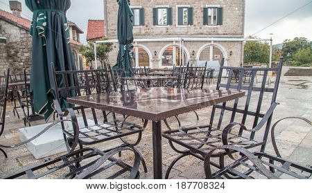 Table and chairs in herceg novi montenegro