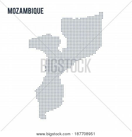 Vector Dotted Map Of Mozambique Isolated On White Background .
