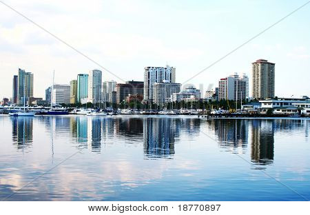 skyline of manila bay