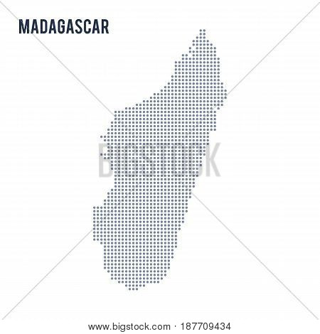 Vector Dotted Map Of Madagascar Isolated On White Background .