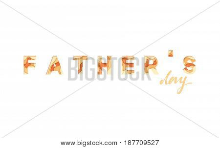 Happy Father's Day. Greeting card background vector illustration.