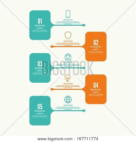 Comparative chart with banner for presentation, informative forms. Infographic option. Info chart Process step by step. Text box infographics report template layout. Vector illustration