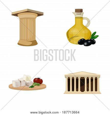 Greece, country, tradition, landmark .Greece set collection icons in cartoon style vector symbol stock illustration .