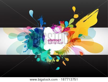 abstract colored background with circles. Vector art