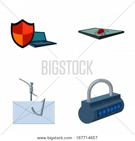 Hacker, system, connection .Hackers and hacking set collection icons in cartoon style vector symbol stock illustration .