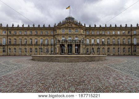 Das Neues Schloss (New Castle). Palace of the 18th century in baroque style. Stuttgart. Germany