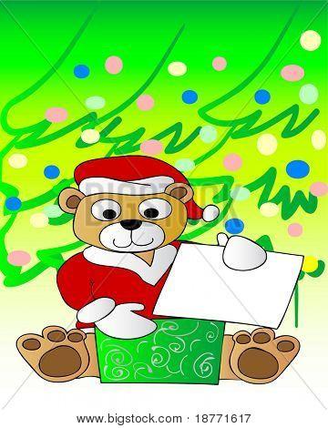 Ilustración de un lindo oso de Navidad