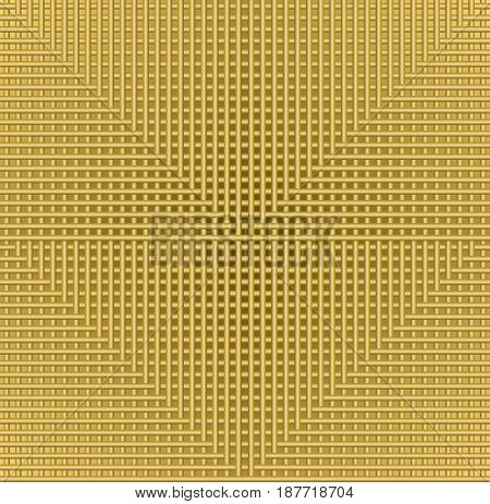 Golden grid background with in metallic design, flyer, leaflet, book cover, manual overlay, low contrasting illustration , vector EPS 10