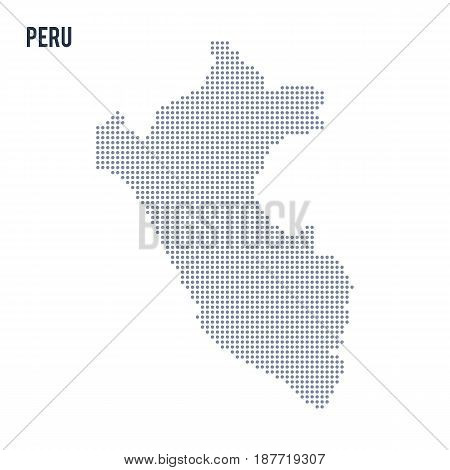 Vector Dotted Map Of Peru Isolated On White Background .