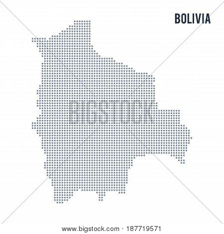 Vector Dotted Map Of Bolivia Isolated On White Background .