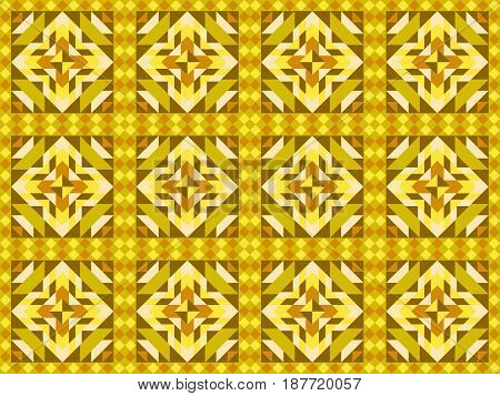 Seamless Mosaic Pattern, Ornament Tiles. Vector Illustration