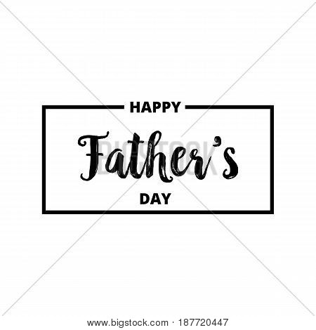 Father's Day. Trendy typographic logo for Father's Day.