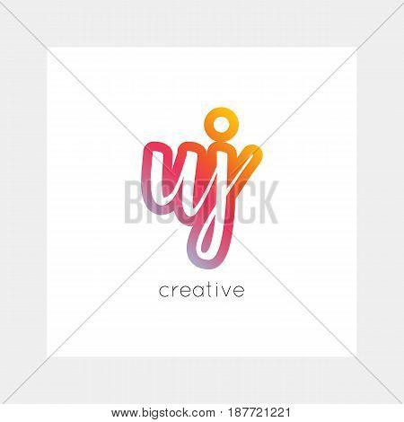 Uj Logo, Vector. Useful As Branding, App Icon, Alphabet Combination, Clip-art.