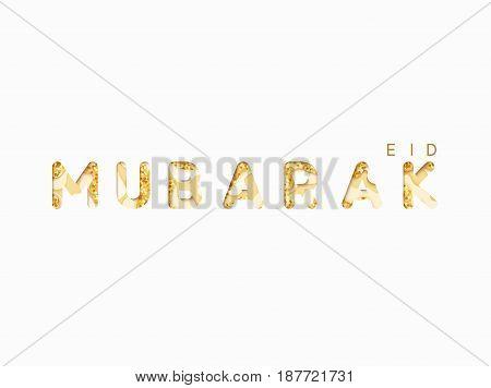 Eid mubarak greeting card background. Holy month of Ramadan.