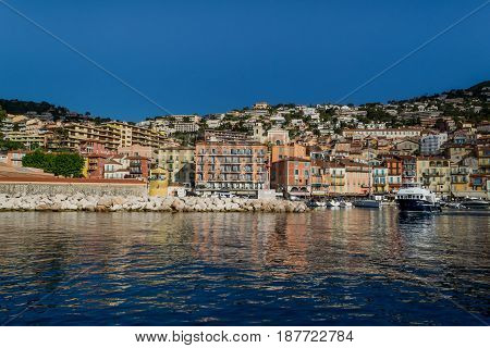 Villefranche-sur-Mer Harbour and Hill, France - Cote d'Azur - French Riviera