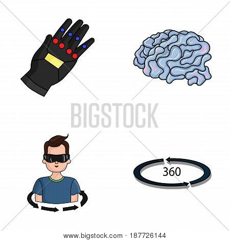 Technology, innovation, man, complemented .Virtual reality set collection icons in cartoon style vector symbol stock illustration .