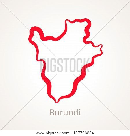 Burundi - Outline Map