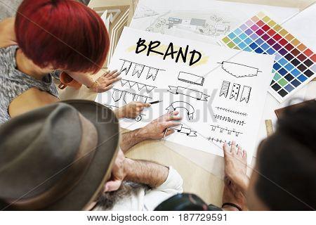 Illustration of brand trademark design