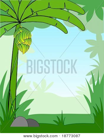 illustration of a cartoon background