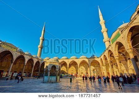View of the Blue Mosque, Sultanahmet Camii