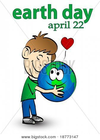 illustration of earth day graphic concept