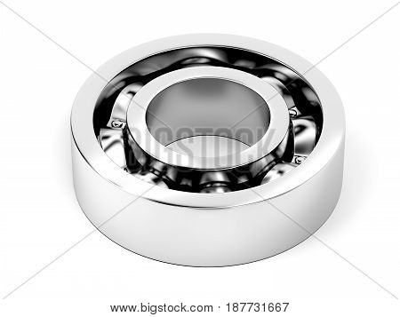 Ball bearing on white background, 3D illustration