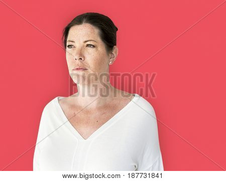 Woman casual studio portrait shoot