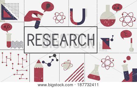 Illustration of biochemistry study scientific research