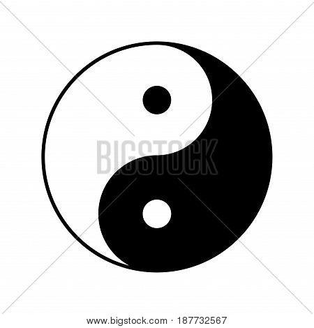 yin yang vector symbol icon design. Beautiful illustration isolated on white background