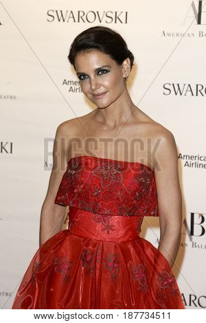 NEW YORK-MAY 22: Katie Holmes attends the American Ballet Theatre 2017 Spring Gala at David H. Koch Theater at Lincoln Center on May 22, 2017 in New York City.