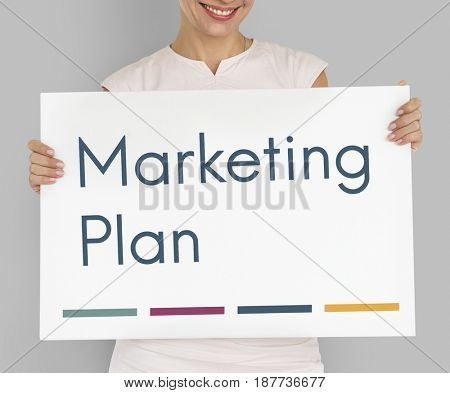 Marketing plan business word concept