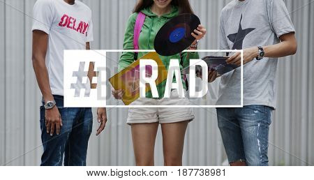 Rad Friendship College Education Concept
