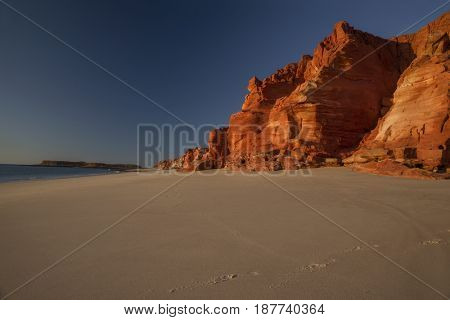 Western Australia - rocky coastline with red colored rocks