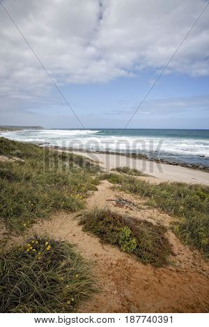 Western Australia - rough coastline with gray sky