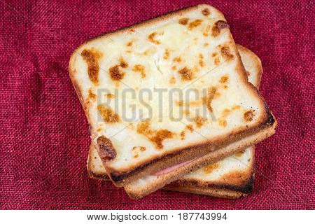 Traditional French Toasted Sandwich croque madame