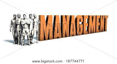 Business People Team Focusing on Improving Management as a Concept 3D Illustration Render