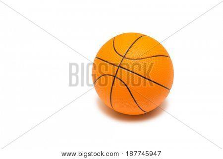 Toy basketball isolated on white background