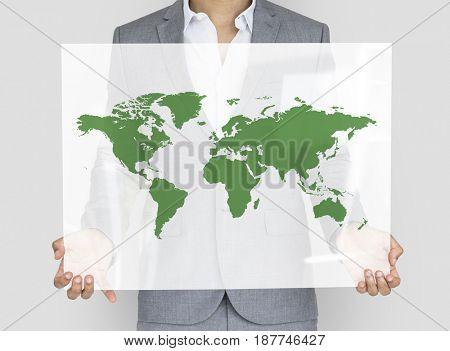 International Business World Map Icon