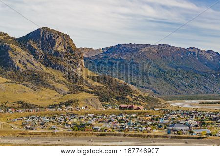 El Chalten Town Aerial View.patagonia - Argentina