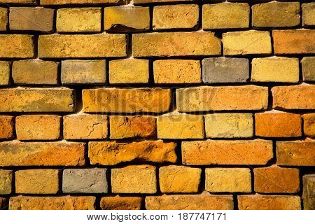 red brickwork wall -  abstract background