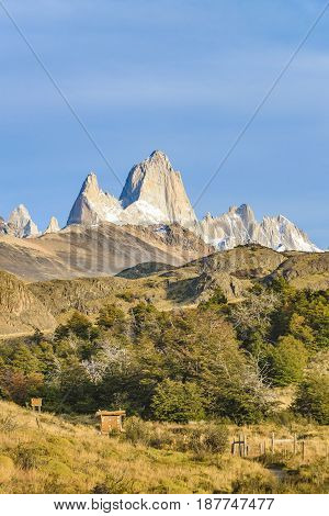 Fitz Roy And Poincenot Mountains, Patagonia - Argentina