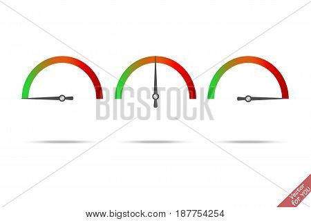 Speed test arrow vector icon vector illustration
