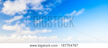 Clouds In Blue Sky, Panoramic Background