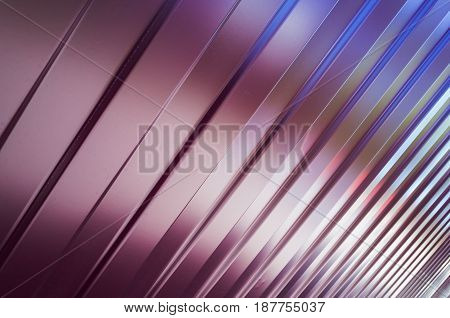 Shining Corrugated Metal Background Texture